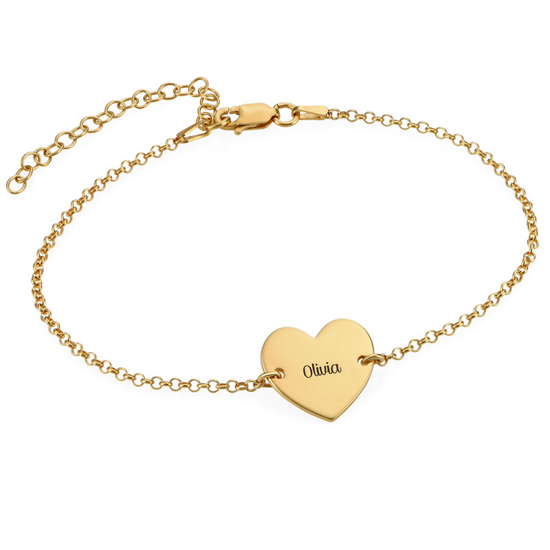 Heart Anklet in Gold Plating