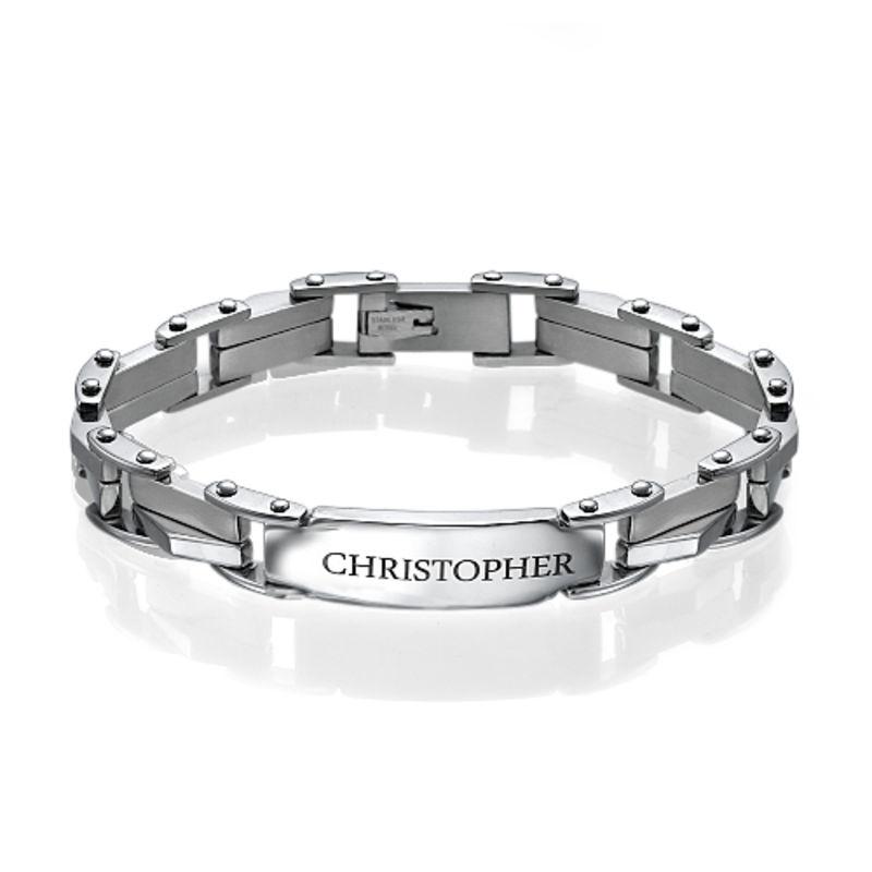 Engraved Stainless Steel Bracelet
