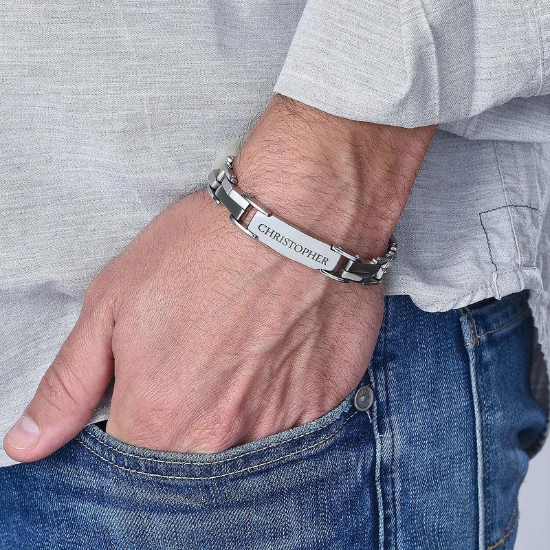 Engraved Stainless Steel Bracelet - 2