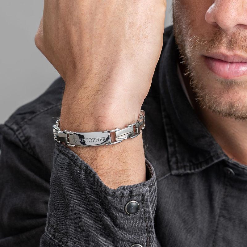 Engraved Stainless Steel Bracelet - 3