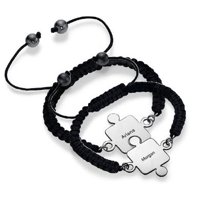 Best Friends Puzzle Bracelet in Silver