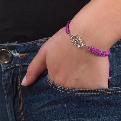 Celebrity Monogram Cord Bracelet - 2