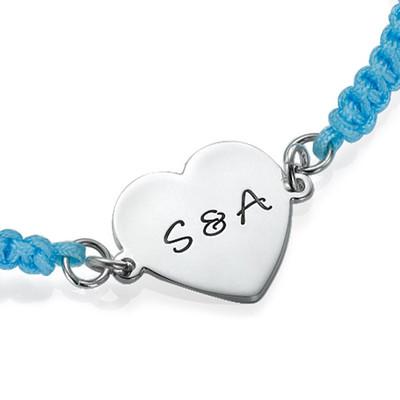 Engraved Initial Heart Bracelet - 1