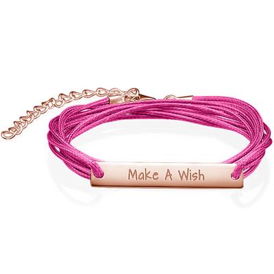 "Inspirational ""Make a Wish"" Bar Bracelet"