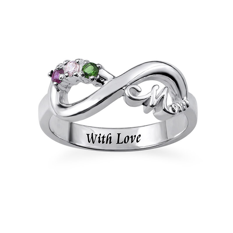 Infinity Mum Ring with Inner Engraving - 1