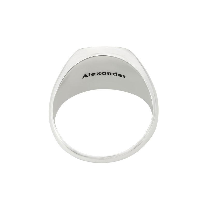 Custom Onyx Stone Signet Ring in Sterling Silver for Men - 2