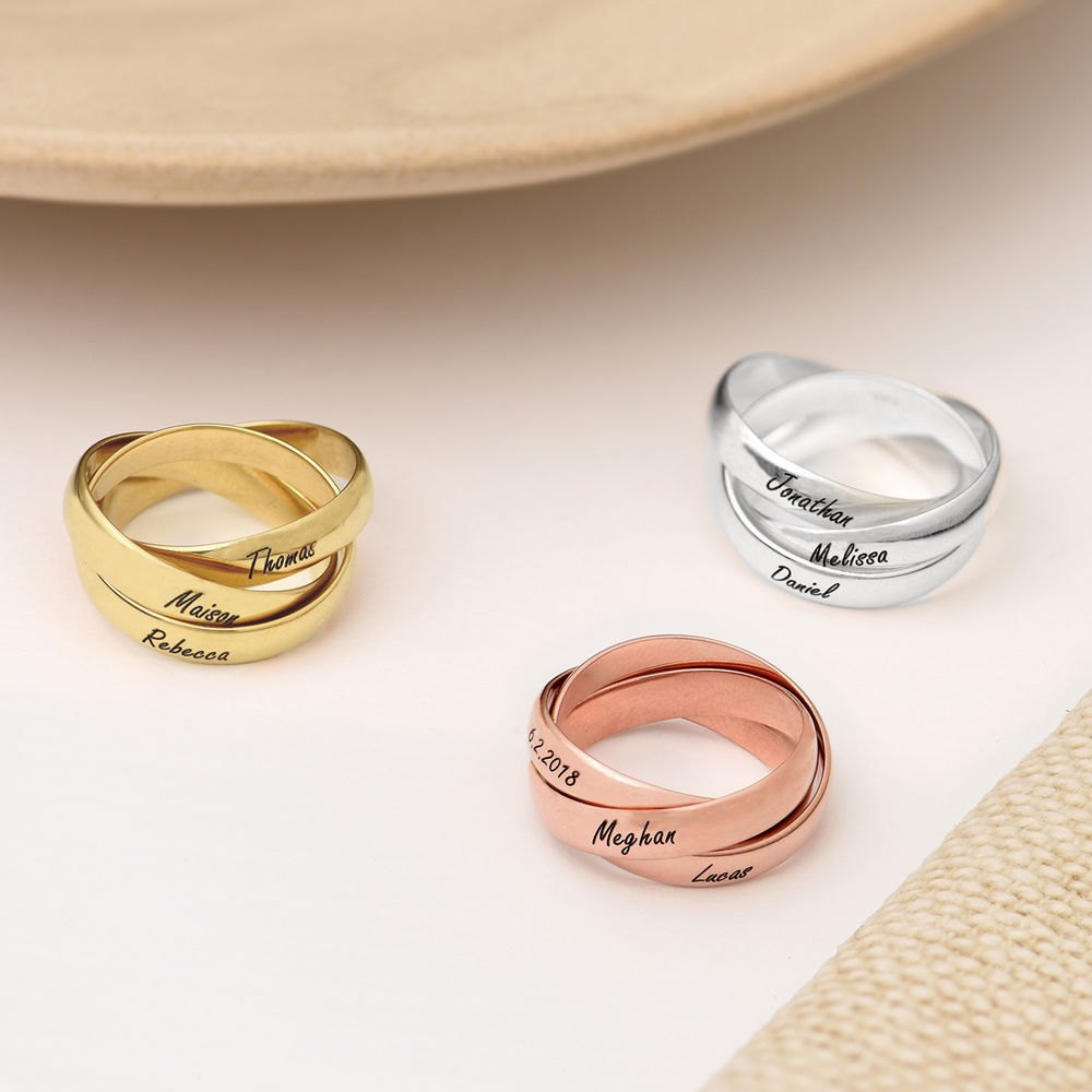 Charlize Russian Ring in Rose Gold Plating - 2