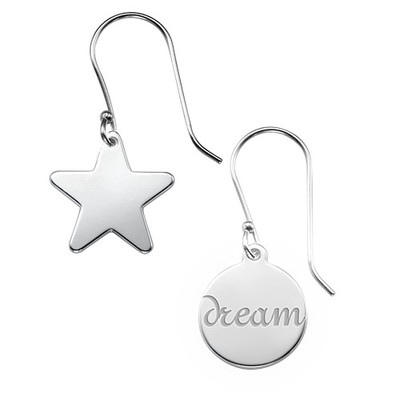 Asymmetric Earrings in Sterling Silver - 3
