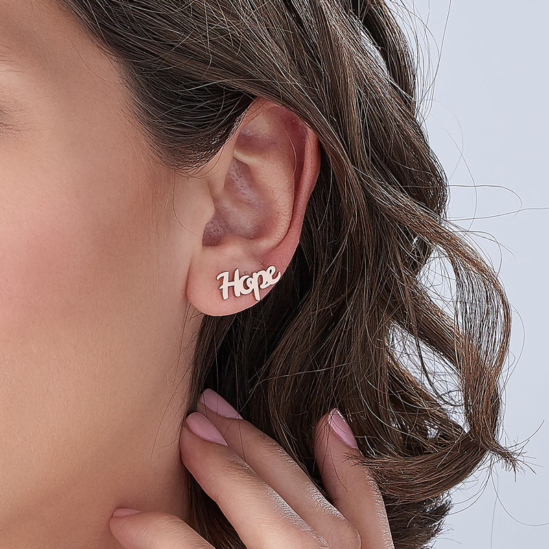 Personalised Ear Climbers with 18ct Rose Gold Plating - 3