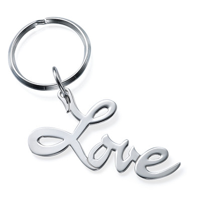 "Sterling Silver ""Love"" Keyring"