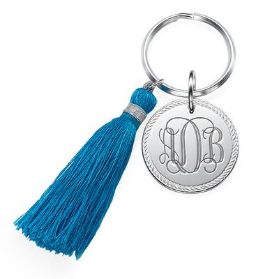 Monogram Keychain with Tassel