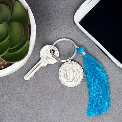 Monogram Keychain with Tassel - 2