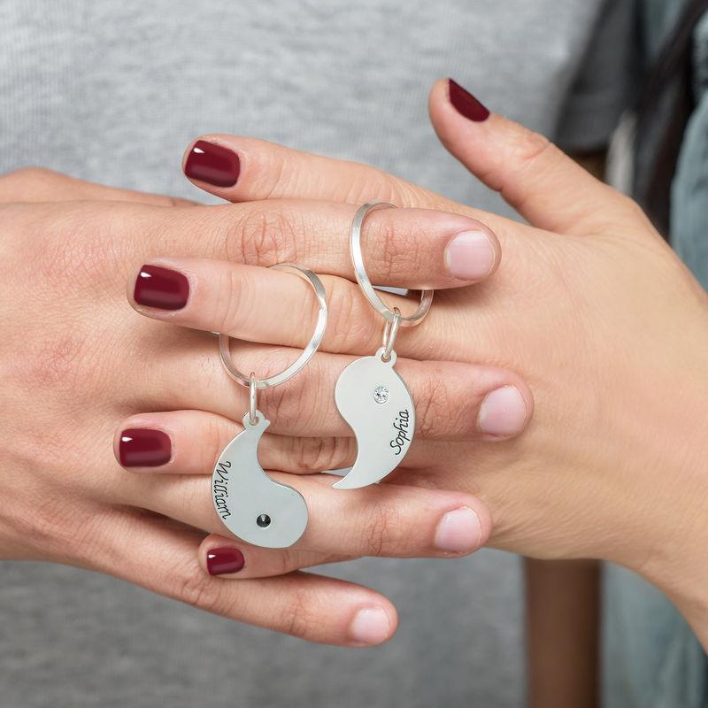 Personalised Yin Yang Keyring for Couples - 2