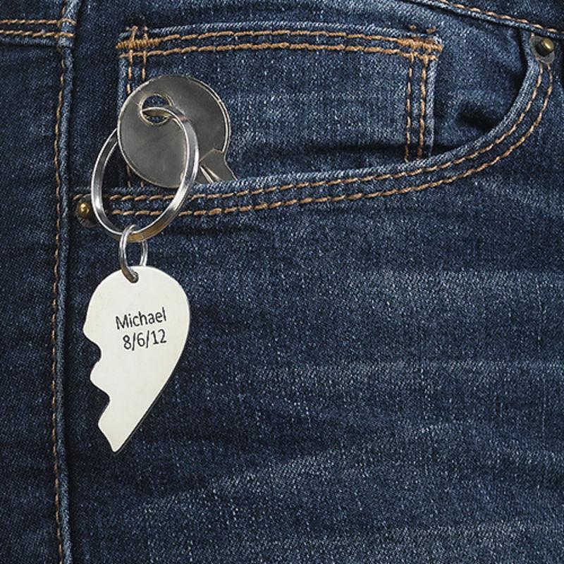 Breakable Heart Keyring in Sterling Silver - 4