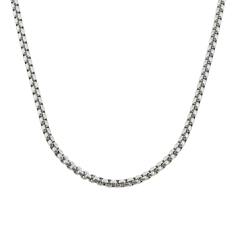 Elongated Box Chain Necklace for Men