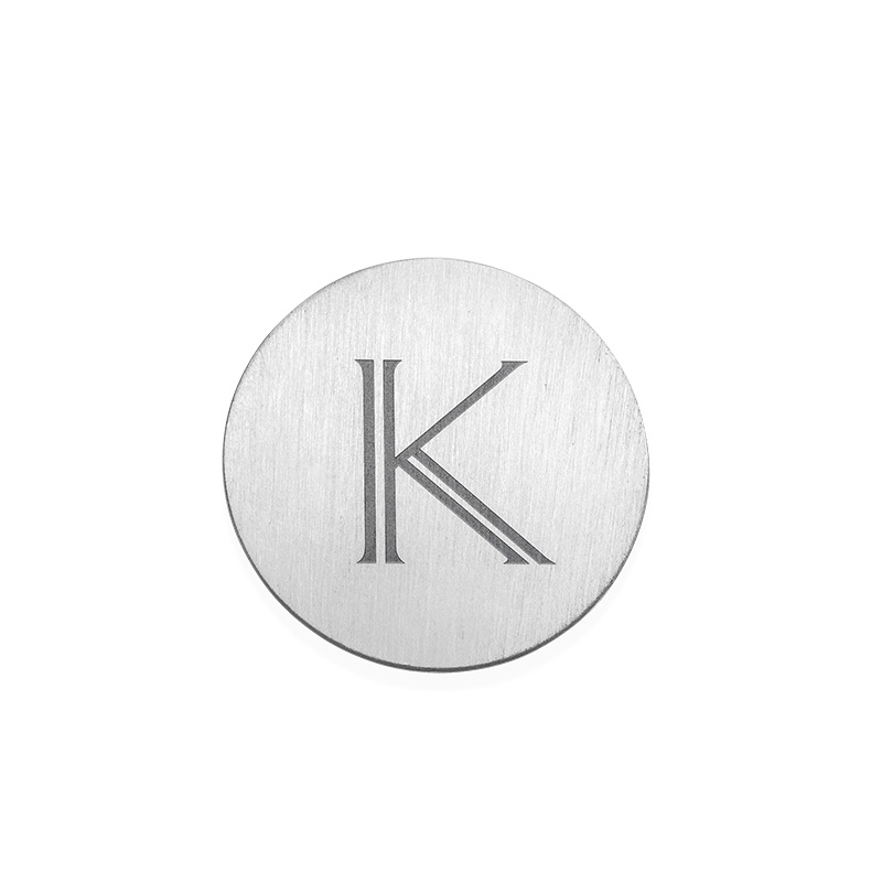 Floating Locket Plate - Disc with Initial