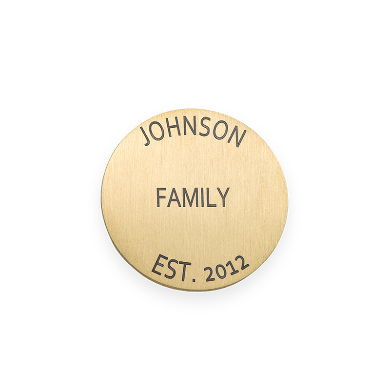 Floating Locket Plate - Disc with Engraving