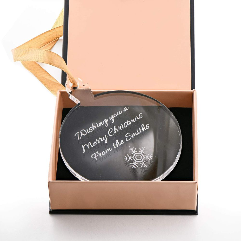 Personalised Holiday Ornament with Snowflake - 1