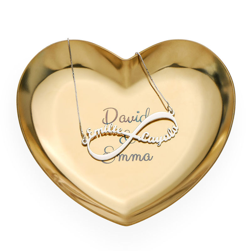 Personalised Heart Jewellery Tray in Gold Colour - 2