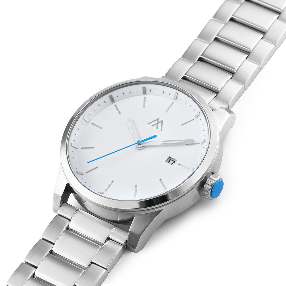 Odysseus Day Date Minimalist Stainless Steel Watch - 1