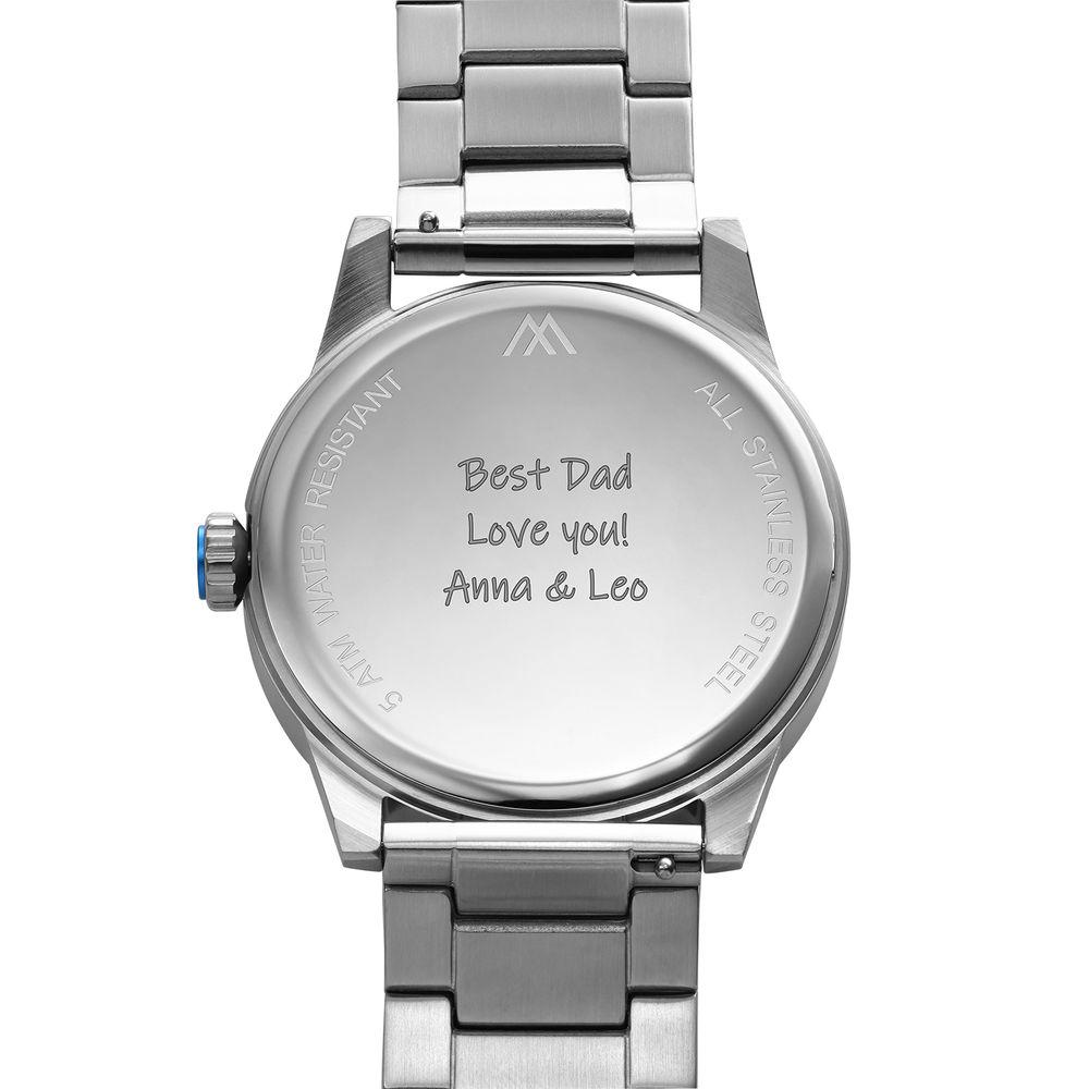 Odysseus Day Date Minimalist Stainless Steel Watch - 4