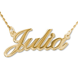 14ct Gold Classic Name Necklace product photo