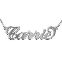 Extra Thick Carrie Name Necklace - Rollo Chain product photo