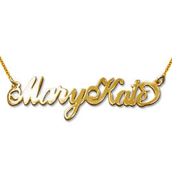 Two Capitals 18ct Gold Plated Carrie Name Necklace product photo