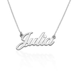 Small Sterling Silver Classic Name Necklace product photo