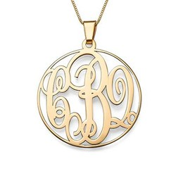 14ct Yellow Gold Monogrammed Necklace product photo