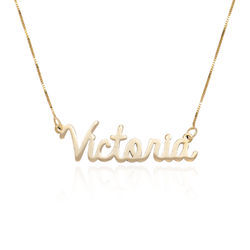 Personalised Cursive Name Necklace in 14ct Gold product photo
