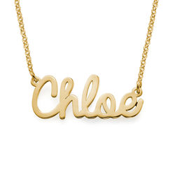Personalised Jewellery - Cursive Name Necklace in 18ct Gold Plating product photo