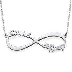 Infinity Name Necklace in Sterling Silver product photo