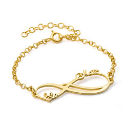 Infinity 2 Names Bracelet with Gold Plating product photo