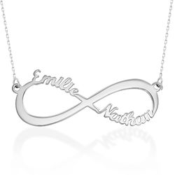 Infinity Name Necklace in 10ct White Gold product photo