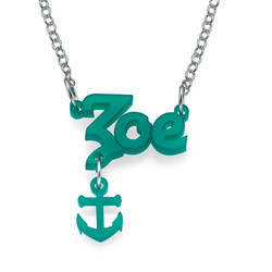 Stylish Colour Name Necklace with Charm product photo