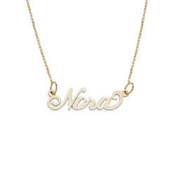 Small 10ct Yellow Gold Carrie Style Name Necklace product photo