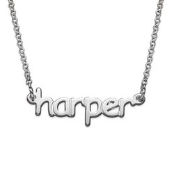 925 Sterling Silver Tiny Name Necklace product photo