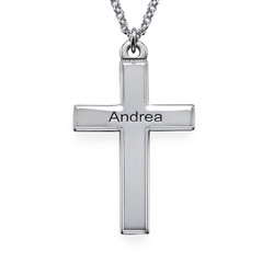 Personalised Sterling Silver Cross Pendant product photo