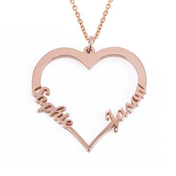 18ct Rose Gold Plated Heart Necklace product photo