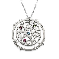 Birthstone Family Tree Necklace - My Everlasting Love Collection product photo