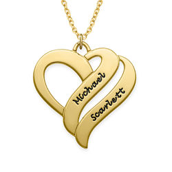 Two Hearts Forever One Necklace in 18ct Gold Plating product photo