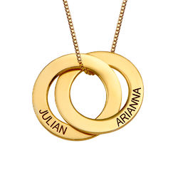 Russian Ring Necklace with 2 Rings in Vermeil product photo