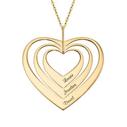 Family Hearts Necklace in 10ct Gold product photo