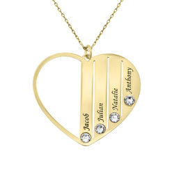 Mum Birthstone Necklace in Gold 10ct product photo