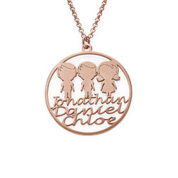 Mother Circle Necklace in Rose Gold Plating product photo