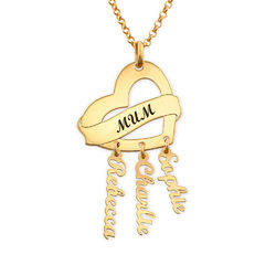 Mother Necklace in Gold Plating with Name Charms product photo