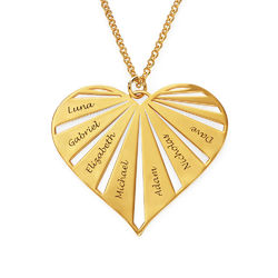 Personalised Family Necklace in Gold Plating product photo