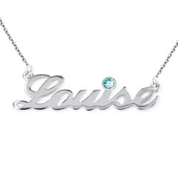Silver Name Necklace with Diamond Style Accent product photo