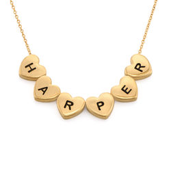 Initial Hearts Stackable Necklace in Gold Plating product photo